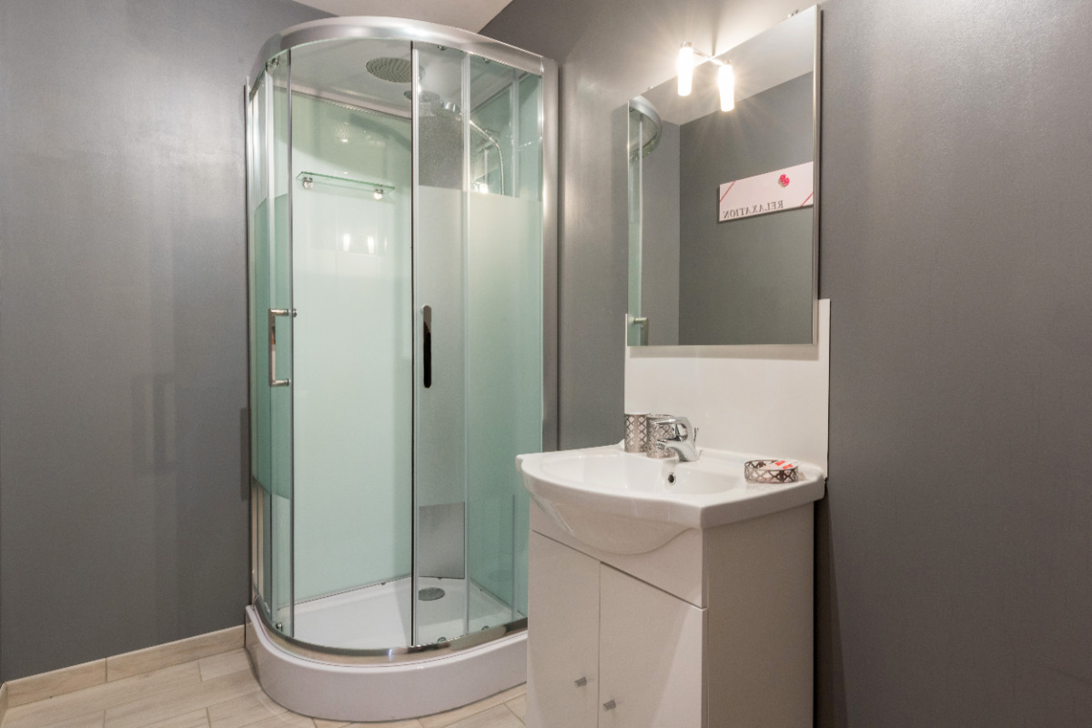 La salle de douche - Chambre d'hôtes - Liettres
