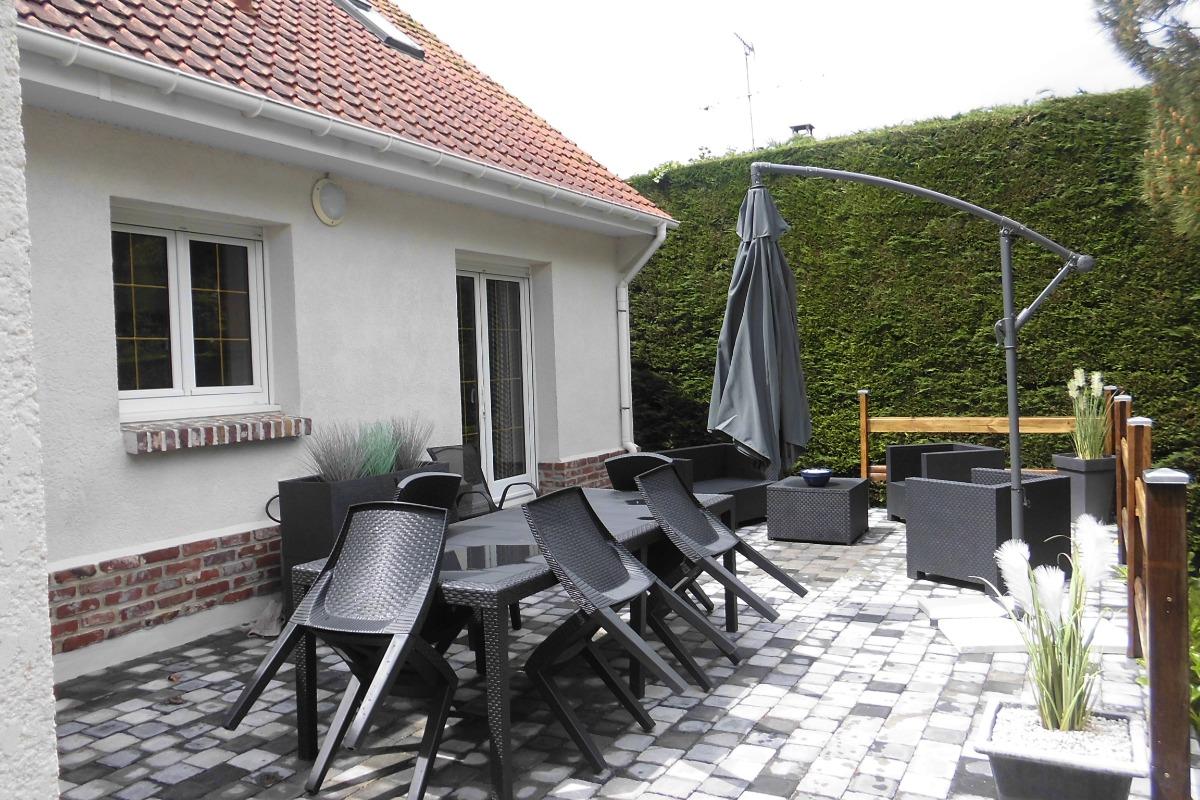 terrasse - Location de vacances - Groffliers