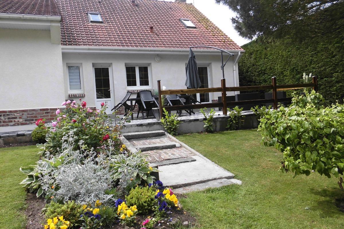 terrasse et jardin - Location de vacances - Groffliers