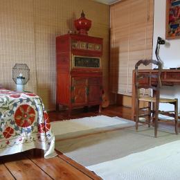 chambre Chiang mai - coin bureau - Chambre d'hôtes - Clermont-Ferrand