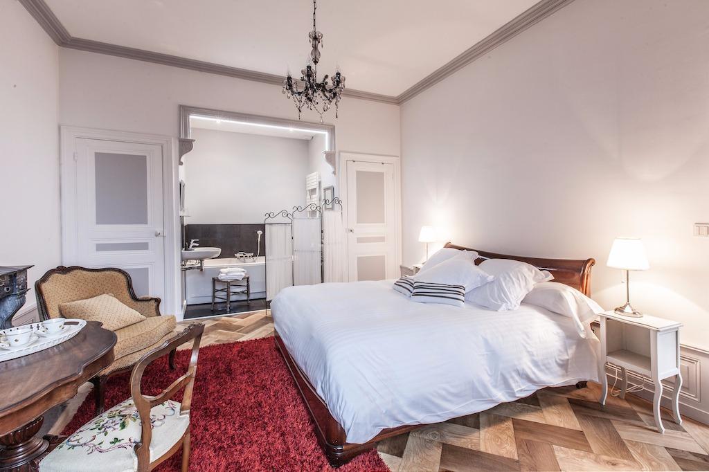 Chambres d'hôtes de charme aménagées dans une belle maison de maître on
