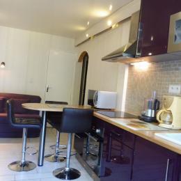 cuisine, coin salon - Location de vacances - Royat