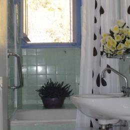 Salle de bains de l'appartement Dogne - Location de vacances - La Bourboule