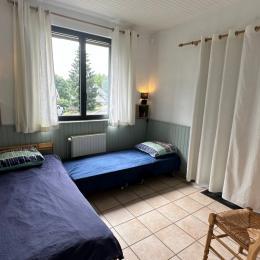 notre maison de coté, l'escalier vers l'appartement - Location de vacances - Saint-Pierre-Colamine