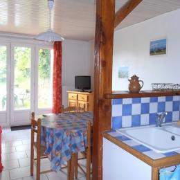 Séjour cuisine - Location de vacances - Gouttières
