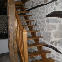 Escalier  - Location de vacances - Prondines