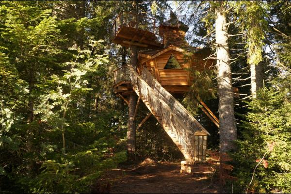 Cabanes dans les Arbres Au Brendezi en Auvergne - Chambre d'hôtes - La Tour-d'Auvergne