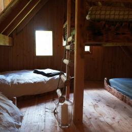 La chambre pour 4 à l'étage - Chambre d'hôtes - La Tour-d'Auvergne