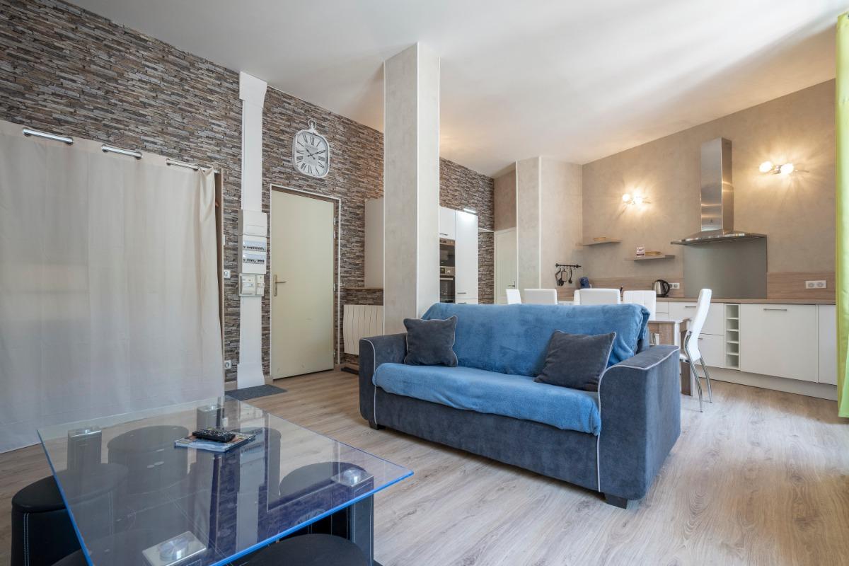espace salon  - Location de vacances - Mont-Dore