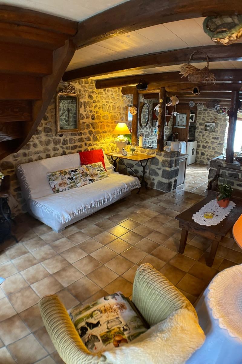 Salon - Location de vacances - Saint-Nectaire