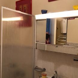salle de bains et machine à laver le linge dans cet espace - Location de vacances - Mont-Dore