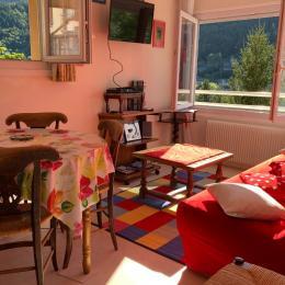 Appart très différent par sa vue panoramique, sa lumières, ses baies vitrées - Location de vacances - Mont-Dore