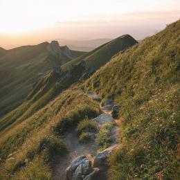 LA VUE  VERS L' EST LE MATIN DEPUIS LA TERRASSE - Location de vacances - Mont-Dore
