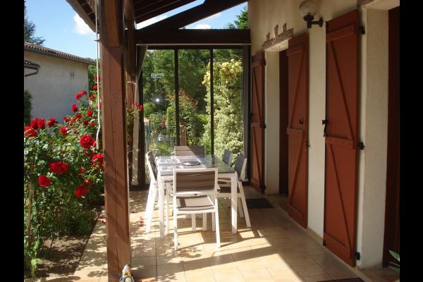 terrasse couverte - Location de vacances - Courpière