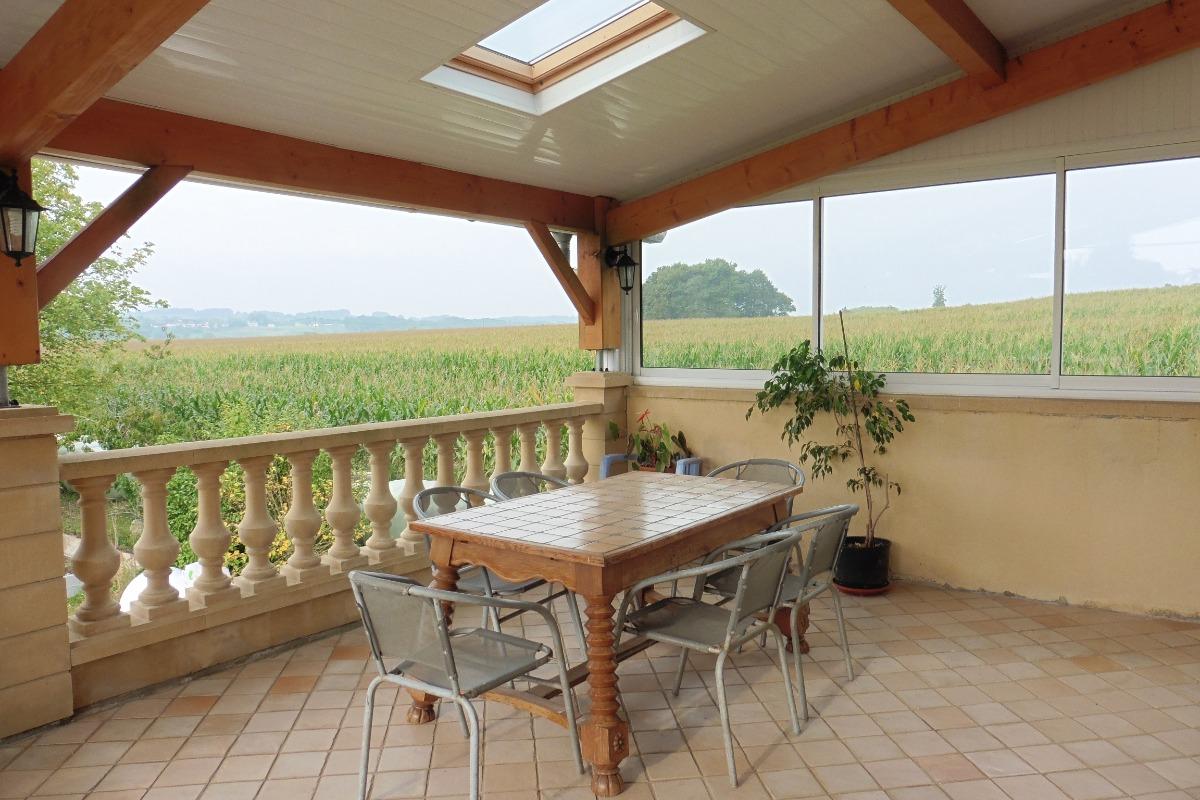 terrasse couverte - Location de vacances - Narp