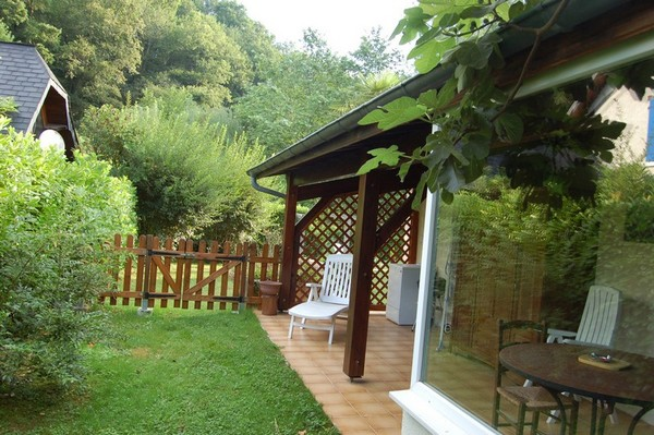 loggia et jardin - Location de vacances - Montaut