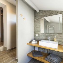 salle d'eau chambre Belharra  - Chambre d'hôtes - Bidart