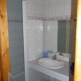salle d'eau - Location de vacances - Villelongue
