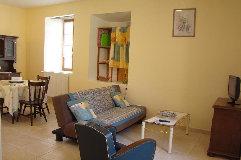 Pièce à vivre : salon/salle à manger - Location de vacances - Bun