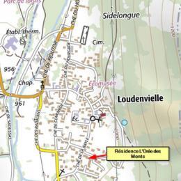 Plan de localisation - Location de vacances - Loudenvielle