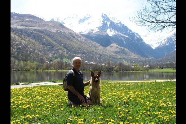 Philippe Haverlan et Chéba lac de Génos - Location de vacances - Génos