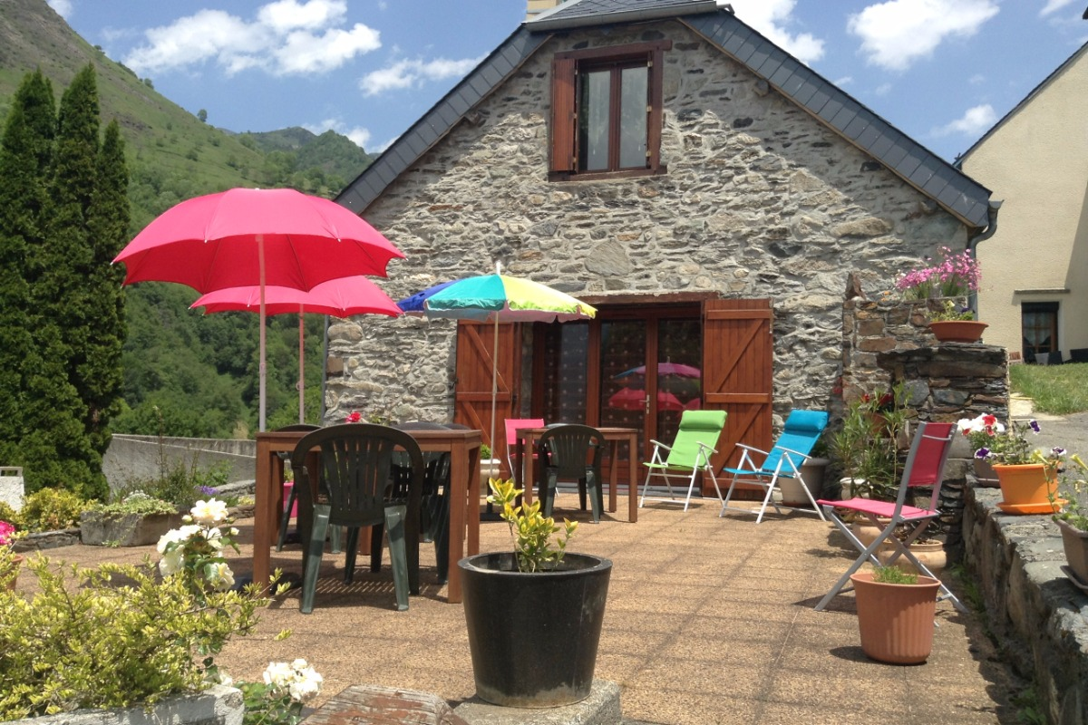 Terrasse - Location de vacances - Betpouey