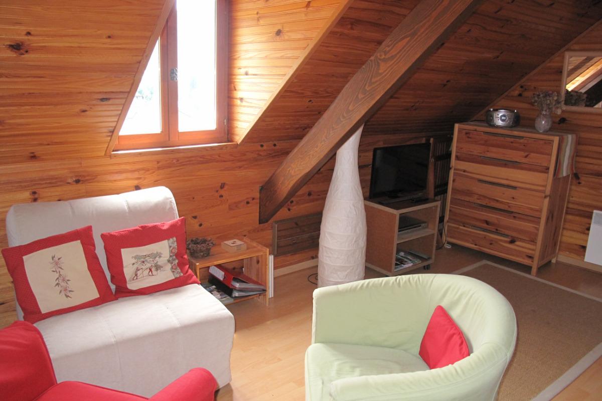 Studio Joubarbe - Coin salon avec fauteuil-lit - Location de vacances - Bagnères-de-Bigorre