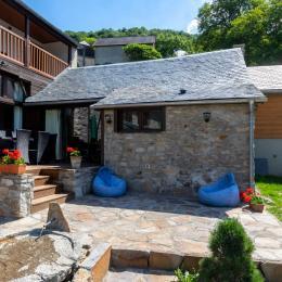 terrasse sud du gîte du Louron - Location de vacances - Cazaux-Debat