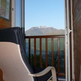 Une partie de la vue depuis le gîte - Location de vacances - Artalens-Souin