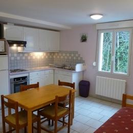 Espace salle à manger de l'appartement 2/6 personnes du Bédéret - Location de vacances - Luz-Saint-Sauveur