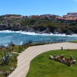 Vue sur la mer depuis la loggia de l'appartement - Location de vacances - Collioure