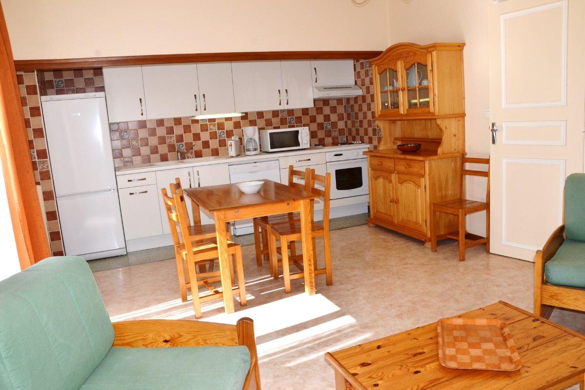 Séjour cuisine - Location de vacances - Font-Romeu-Odeillo-Via