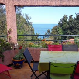 vue sur mer depuis le salon - Location de vacances - Collioure