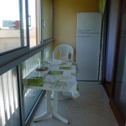 balcon 2eme vue avec frigo/congélateur en fond - Location de vacances - Argelès-sur-Mer