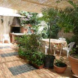 terrasse du petit déjeuner - Chambre d'hôtes - Rivesaltes