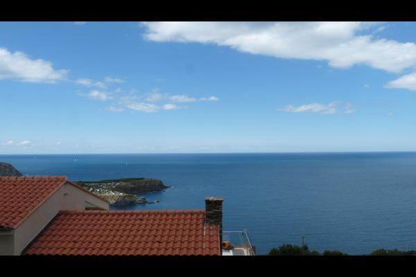 Vue de la terrasse panoramique sur la mer - Chambre d'hôtes - Cerbère