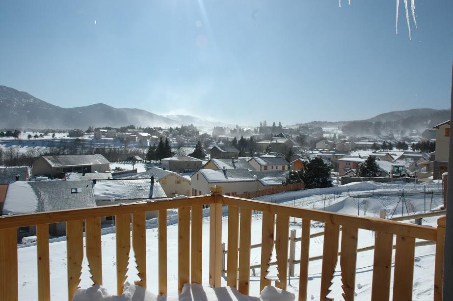 vue de la terrasse - Location de vacances - Formiguères