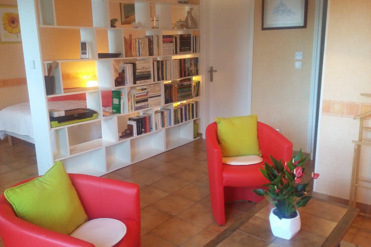 côté salon - Location de vacances - Le Boulou