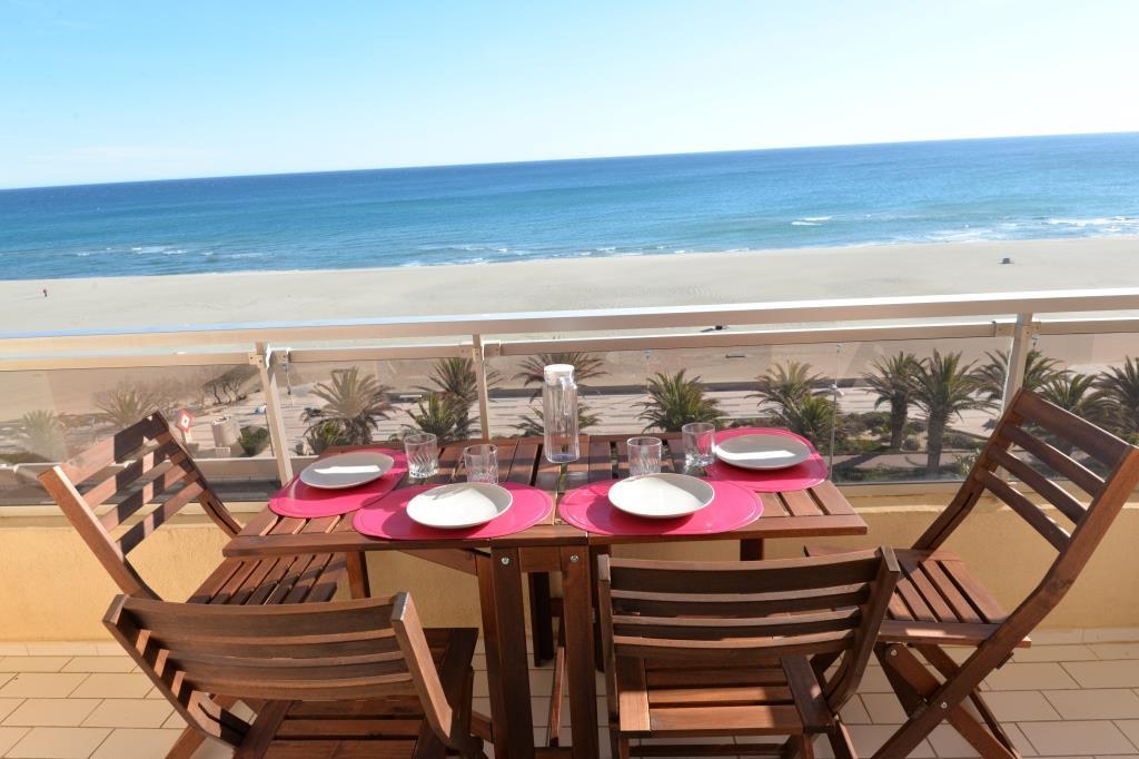 Terrasse vue mer  - Location de vacances - Canet-en-Roussillon