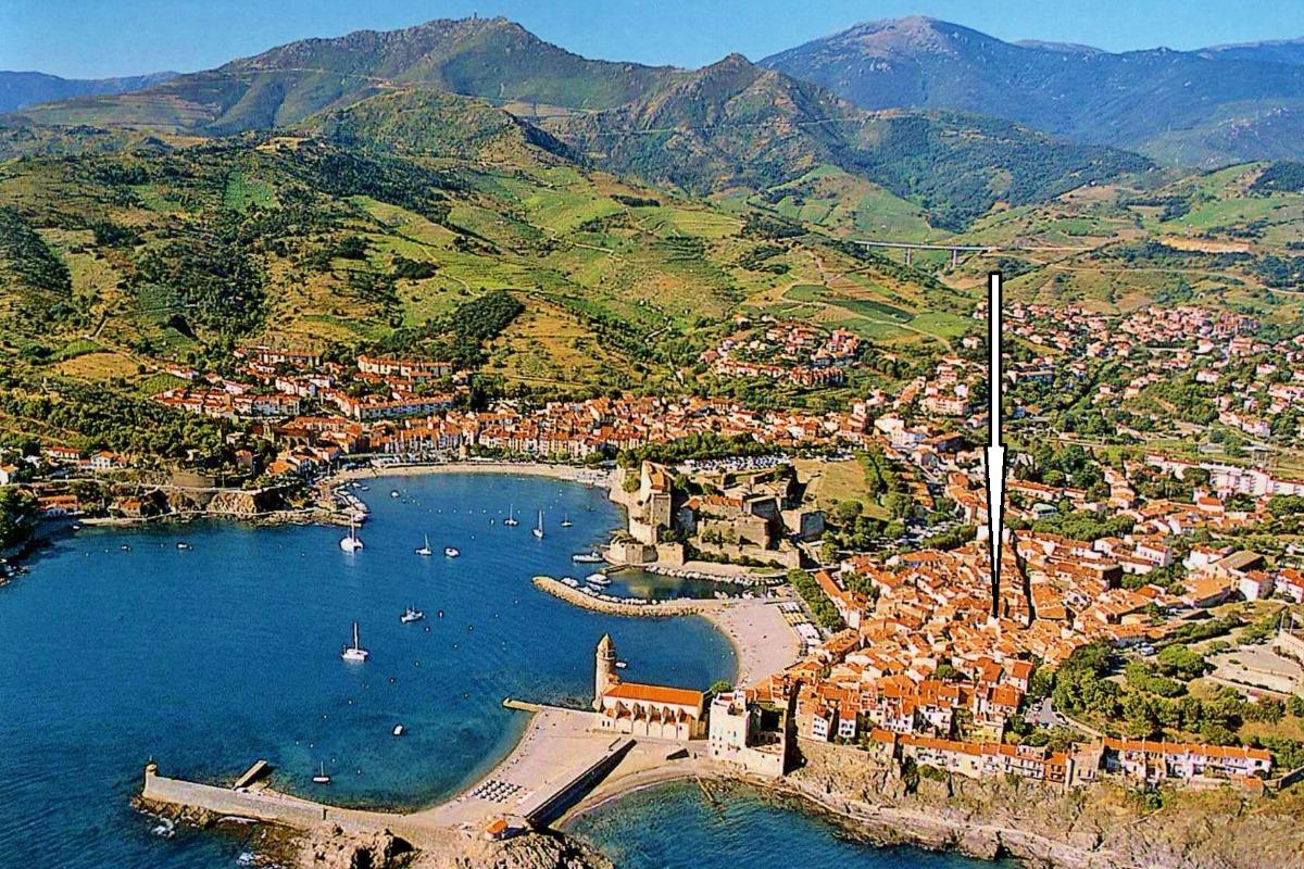 Situation de la location à 100 m de la plage - Location de vacances - Collioure