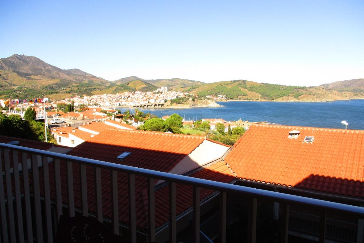 Vue depuis la terrasse sur tout le village - Location de vacances - Banyuls-sur-Mer