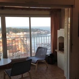 loggia vue mer et port - Location de vacances - Port-Vendres