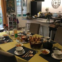 Le petit-déjeuner  - Chambre d'hôtes - Néfiach