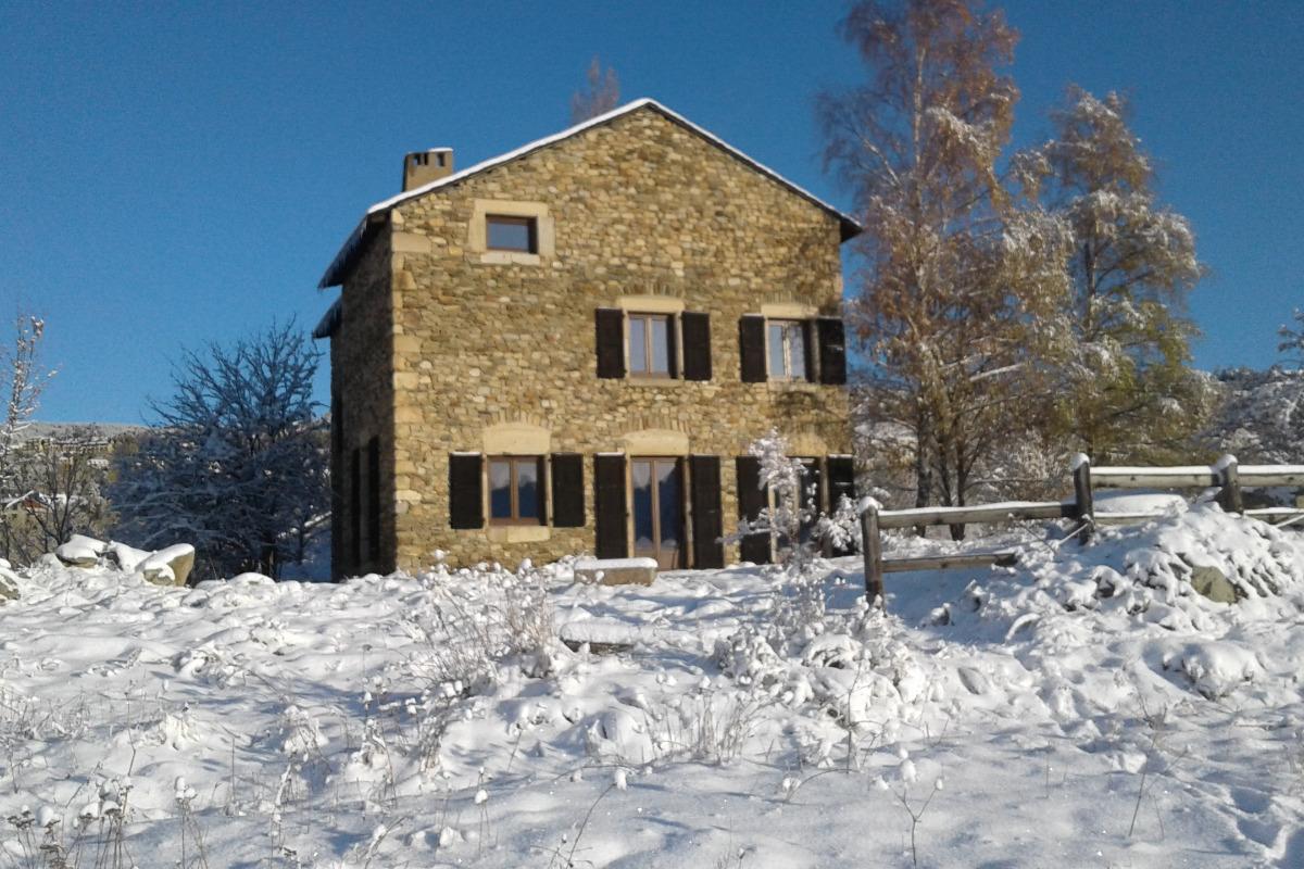 Façade sud hiver - Location de vacances - Font-Romeu-Odeillo-Via