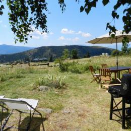 Terrasse et vue - Location de vacances - Font-Romeu-Odeillo-Via