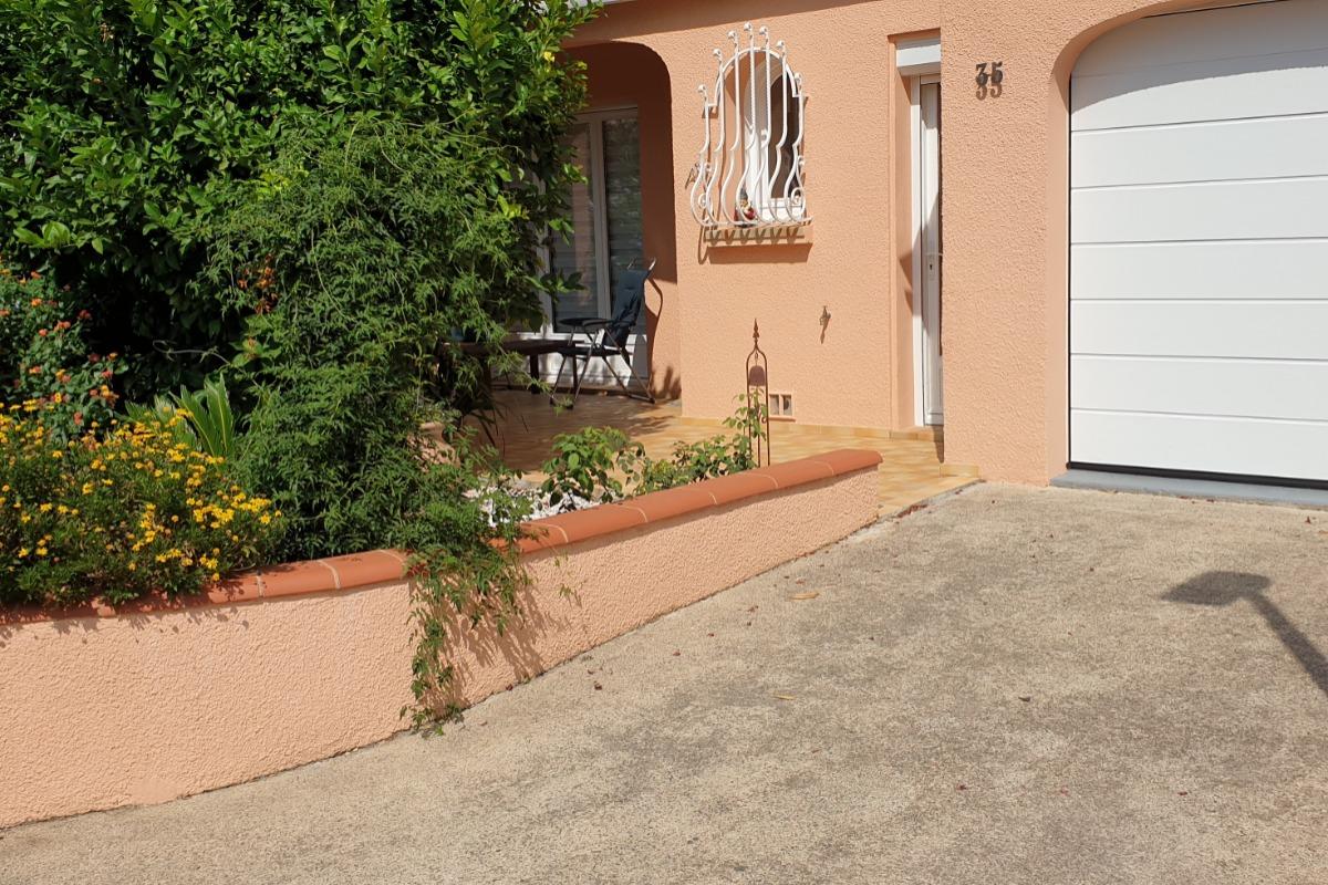 jardin façade - Location de vacances - Céret