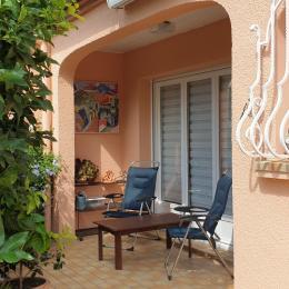 jardin arrière - Location de vacances - Céret
