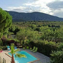 Piscine avec vue exceptionnelle  - Location de vacances - Caudiès-de-Fenouillèdes