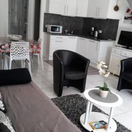 séjour et coin cuisine - Location de vacances - Le Barcarès