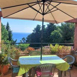 terrasse et sa vue mer - Location de vacances - Collioure
